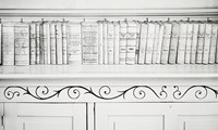 William Clift (American, b.1944); Law Books, Hinsdale County Court House, Colorado; Photograph; 1991.495