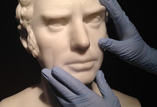 Touch Tour: Bust Portraiture; For visitors who are blind or have partial vision.