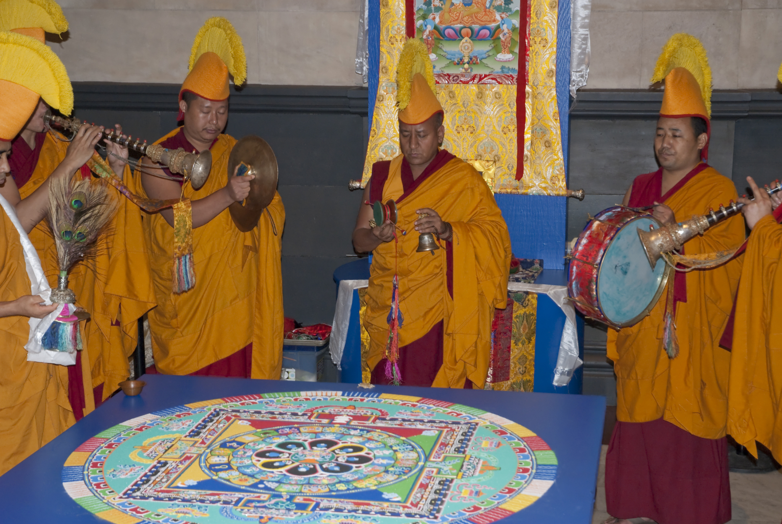 Tibetan Monks Sand Art