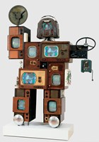 Nam June Paik, Powel Crosley, Jr, mixed media (parts from a variety of Crosley products), John J. Emery Endowment and The Edwin and Virginia Irwin Memorial, 1992.140